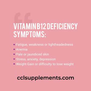 vitamin b12 deficiency weight loss symptoms